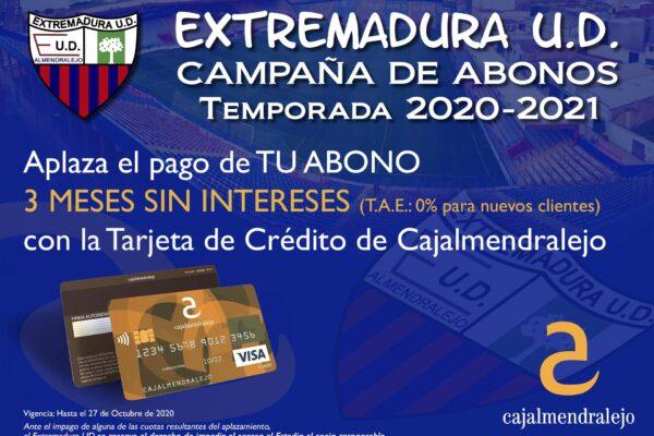 Abonos Extremadura UD - Cajalmendralejo